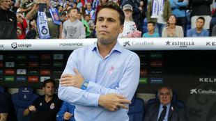 Rubi, durante el encuentro contra el Villarreal.