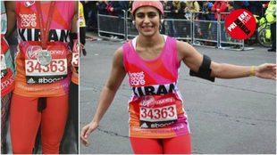 Kiran Gandhi, deportista aficionada que corrió el maratón de Londres...