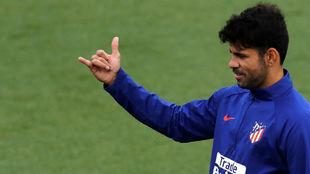 Costa returns to Atletico training