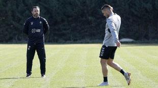 Sergio González junto a Kiko Olivas en un entrenamiento del...