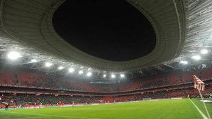 Panorámica del estadio de San Mamés.