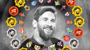Messi y el círculo de oro: una gesta para la historia de LaLiga