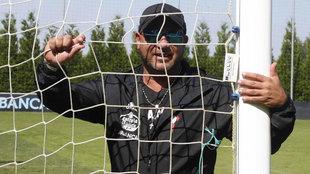 Antonio Mohamed, en las Instalaciones Deportivas de A Madroa.