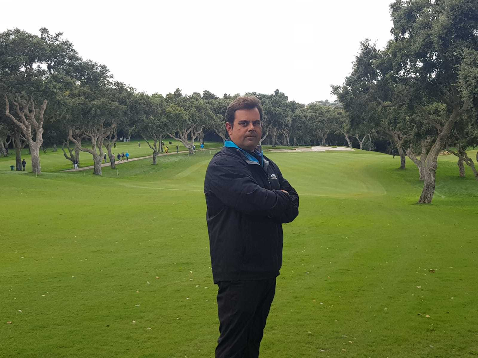 Adolfo Ramos, 'head greenkeeper' del Real Club Valderrama.