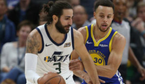 Doble-doble de Ricky Rubio ante los Warriors
