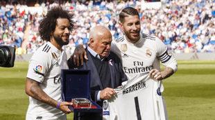 Ramos and Marcelo with Agustín Herrerín