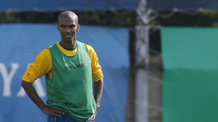 Naldo, durante un entrenamiento con el Espanyol.