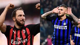 Dos argentinos tendrán la responsabilidad goleadora en el derbi Inter...