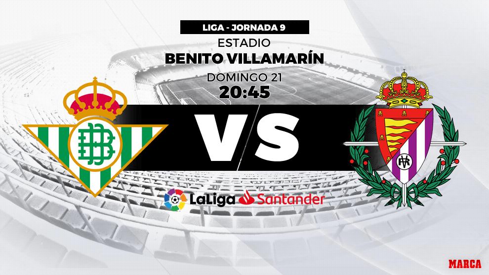 Betis vs Valladolid - 21 de octubre a las 20.45 horas