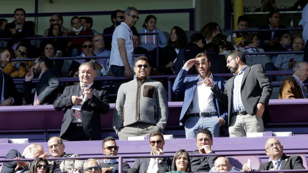 Ronaldo, en el palco del José Zorrilla