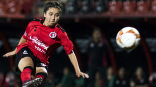 Miroslava Maprigat en el partido de Xolos Femenil