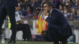Valverde durante el partido ante el Sevilla.