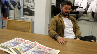 Gabriel Rufián in an interview with MARCA.