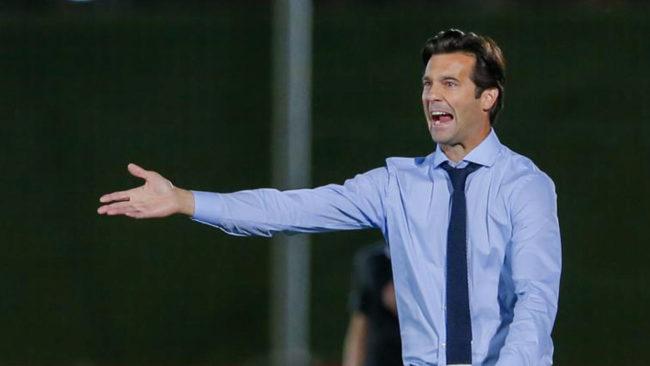 Santiago Solari en un partido con el Castilla