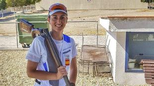 Foto Fátima Gálvez, tras una competición