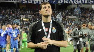 Casillas, en una foto de la pasada temporada con el Oporto.