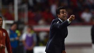 Marcelo Leaño durante su último partido con Necaxa.