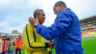 Hernández recordó viejos tiempos al lado de Meza.
