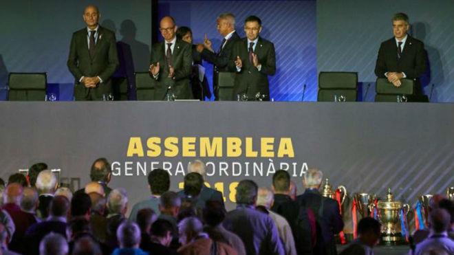 Josep Maria Bartomeu, at Barcelona's general assembly