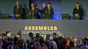 Josep Maria Bartomeu, at Barcelona's general assembly