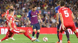 Messi, durante el último Barcelona-Girona