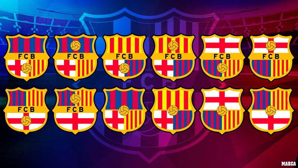 fc barcelona 12 modelos para el nuevo escudo del barca cual te gusta mas marca com fc barcelona 12 modelos para el nuevo