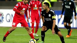 Xavi Hernández, en la ida de las semifinales contra Persépolis