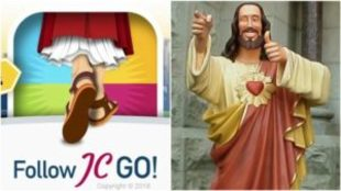 Imagen del Follow JCGO! junto a Cristo Colega de la película...