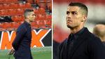An emotional Cristiano Ronaldo walks out an empty Old Trafford