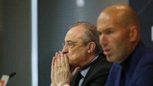 Florentino Perez and Zidane