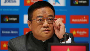Chen Yansheng, en el RCDE Stadium.
