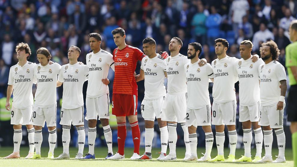 Último equipo titular del Real Madrid, en el partido ante el Levante
