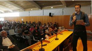 Roberto Jiménez, durante la conferencia.