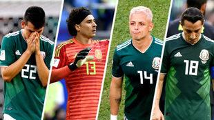Lozano, Ochoa, Chicharito y Guardado.