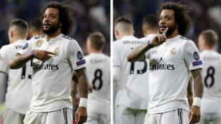 Marcelo hace gestos a la grada.