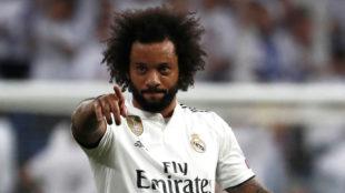 Marcelo, tras el gol.