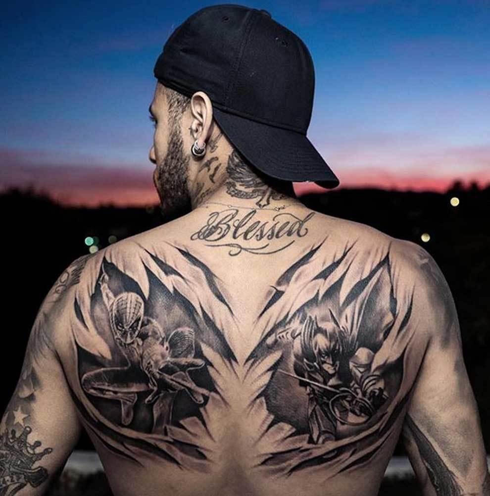 Aguila En La Espalda ligue 1 - francia: todos los tatuajes de neymar: su piel al