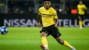 Jadon, en un partido del Borussia