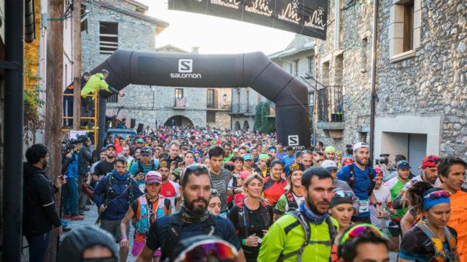 La salida del maratón de Ultra Pirineu.