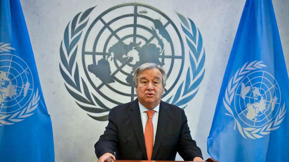 António Guterres, Secretario General de la ONU en conferencia de...