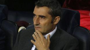 Valverde durante el partido ante el Inter de Milán.