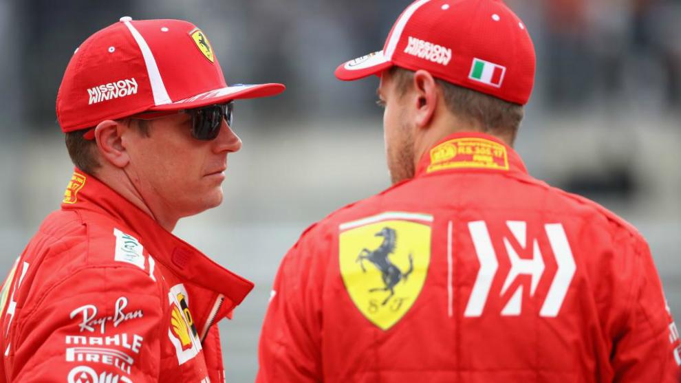 Kimi Raikkonen y Sebastian Vettel