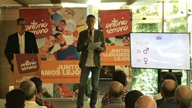 Antonio Serrano, en un momento de la presentación