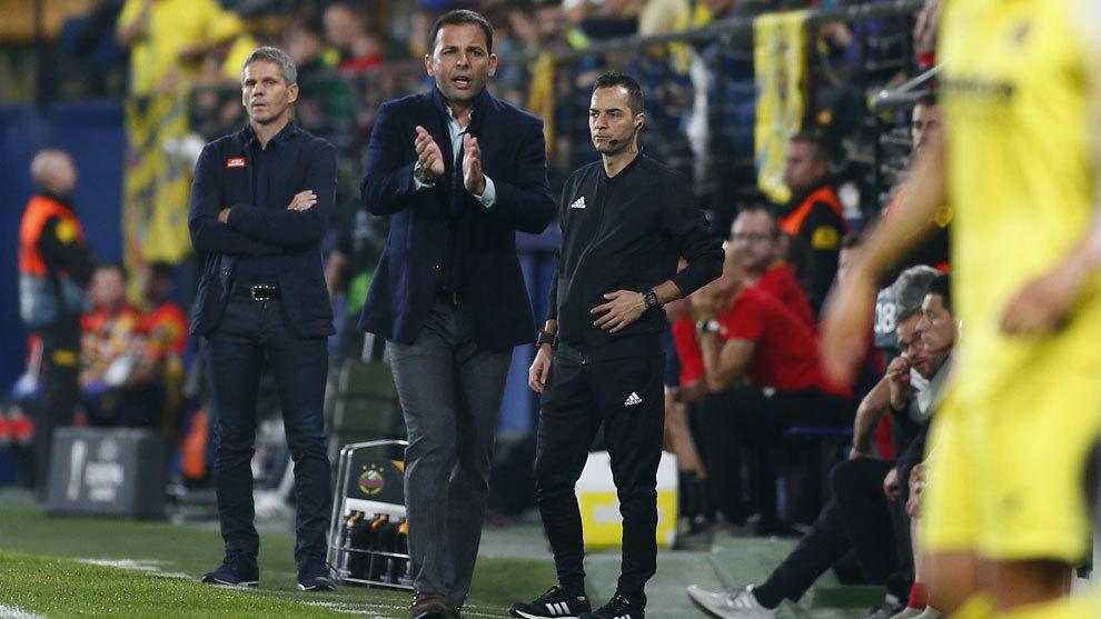 Calleja durante el partido ante el Rapid Viena