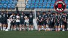 Solari se dirige a sus jugadores en un entrenamiento
