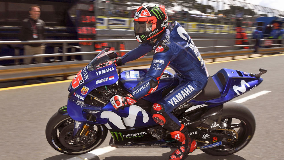 Viñales, con su Yamaha