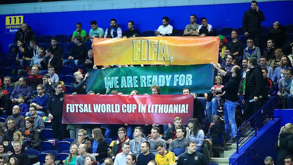 Foto oficial de las redes de la Federación de Fútbol de Lituania