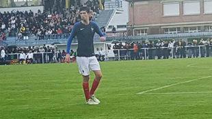 Theo Zidane durante un partido con las categorías inferiores de...