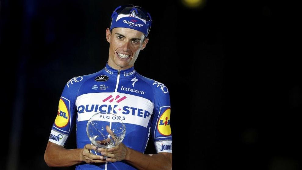 Enric Mas, en el podio de la última Vuelta a España.