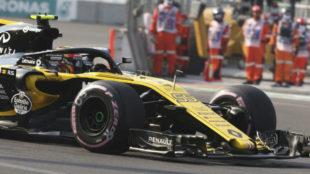 Carlos Sainz, durante los libres de GP de México.
